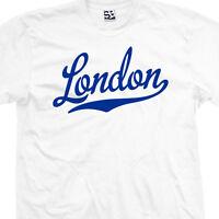 London Script & Tail T-shirt - England Uk Souvenir Gift Tee - All Sizes & Colors