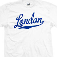 London Script & Tail T-shirt - England Uk Souvenir Gift Tee - All Sizes & Colors