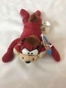 Tasmanian Devil Bean Bag Toy Warner Bros Looney Tunes Beanie 1997 Taz With Tags