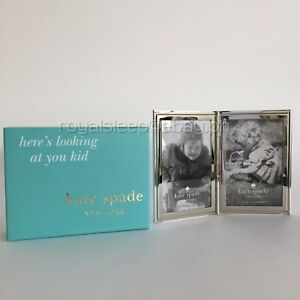 KATE-SPADE-Silver-Street-Folding-Pocket-Picture-Frame-Brand-New-Lenox-America
