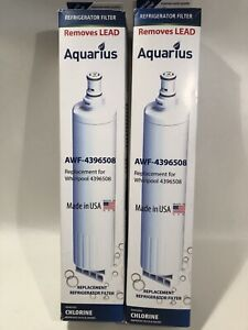 Aquarius / Whirlpool Refrigerator Filter AWF-4396508 New / Sealed Qty 2