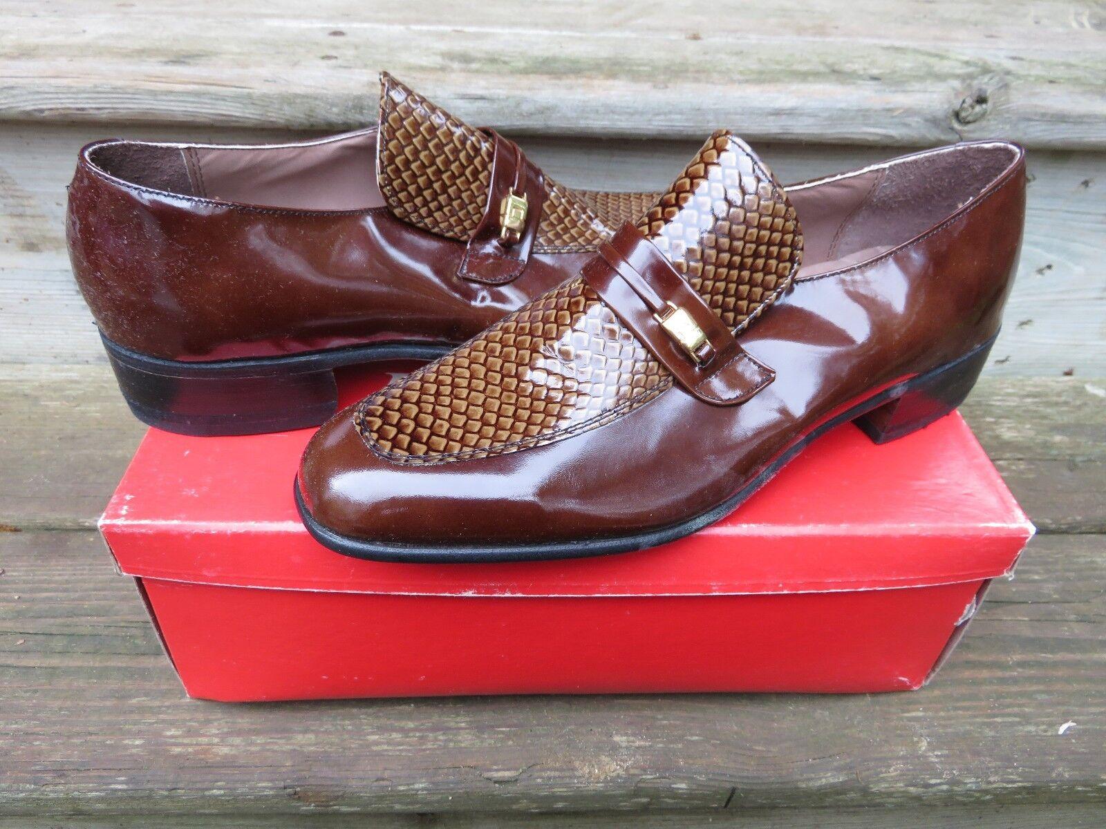 NEW Hanover Imperial Slip-on Loafer Dress schuhe Dark braun braun braun Größe Leather 3eb9a1