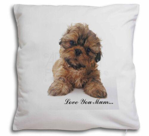 Shih-Tzu Dog Soft Velvet Feel Cushion Cover With Inner Pillow MUM-D12-CPW