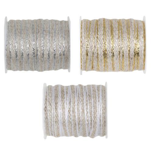 "Dekoband /""cordel/"" 6 mm x 5 m bucles banda banda regalo de boda Vintage"