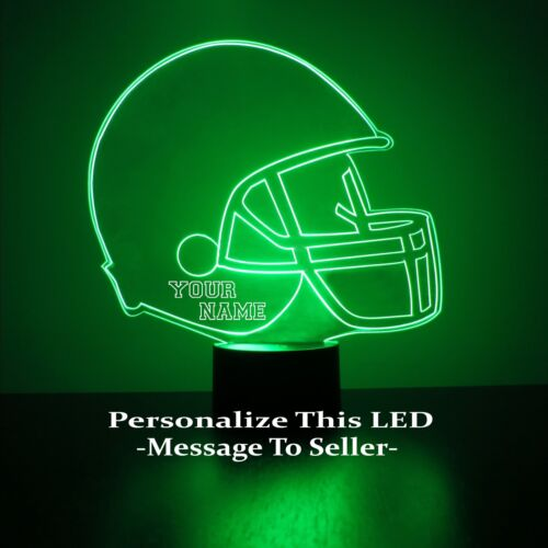 Personalized University of Alabama Crimson Tide NCAA Football Light Up Lamp LED