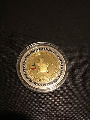 WR Zimbabwe 100 Trillion Dollars Gold//Silver Plated Coin// Limited Edition