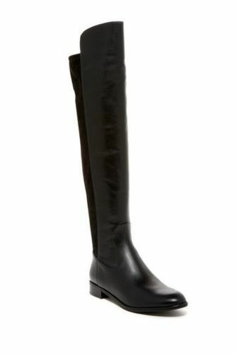 Via Spiga Itala OVER THE KNEE BLACK LEATHER Stretch Riding Boot 5.5 NEW $400