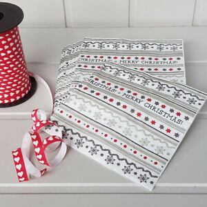 Christmas 20 Paper Lunch Napkins NORDIC WREATH Nordic Style Winter Snow Red Tafelkunst
