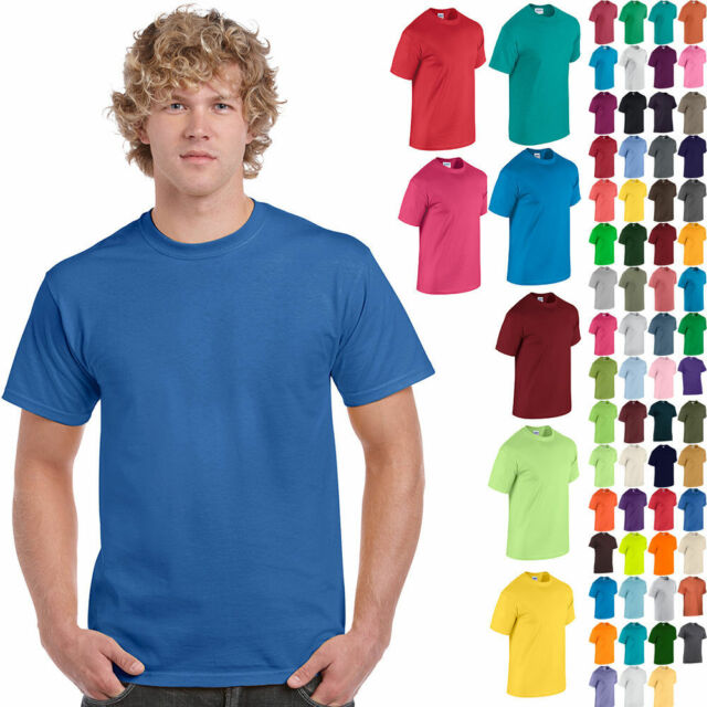 Bulk Lot Solid Blank 5000 NEW Pack of 10 Gildan Men/'s Heavy Cotton T-Shirt