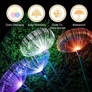 Solar-Fiber-Optic-Jellyfish-LED-Lights-Ground-Lamp-Garden-Outdoor-Waterpro-Xmas