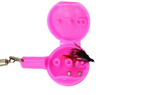Hook Eze Just 4 Her Pink Fishing-River /& Coast Twin Pack Cooler Hook Threader