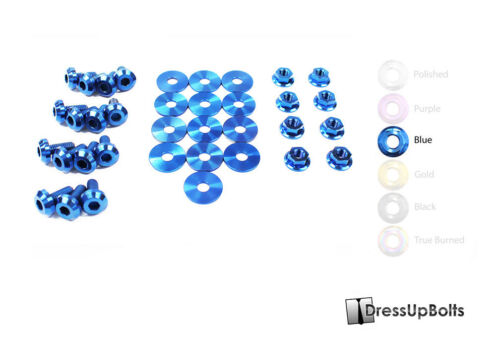 Dress Up Bolts for 99-04 Ford Mustang GT /& Cobra Blue Titanium Engine Bay Kit