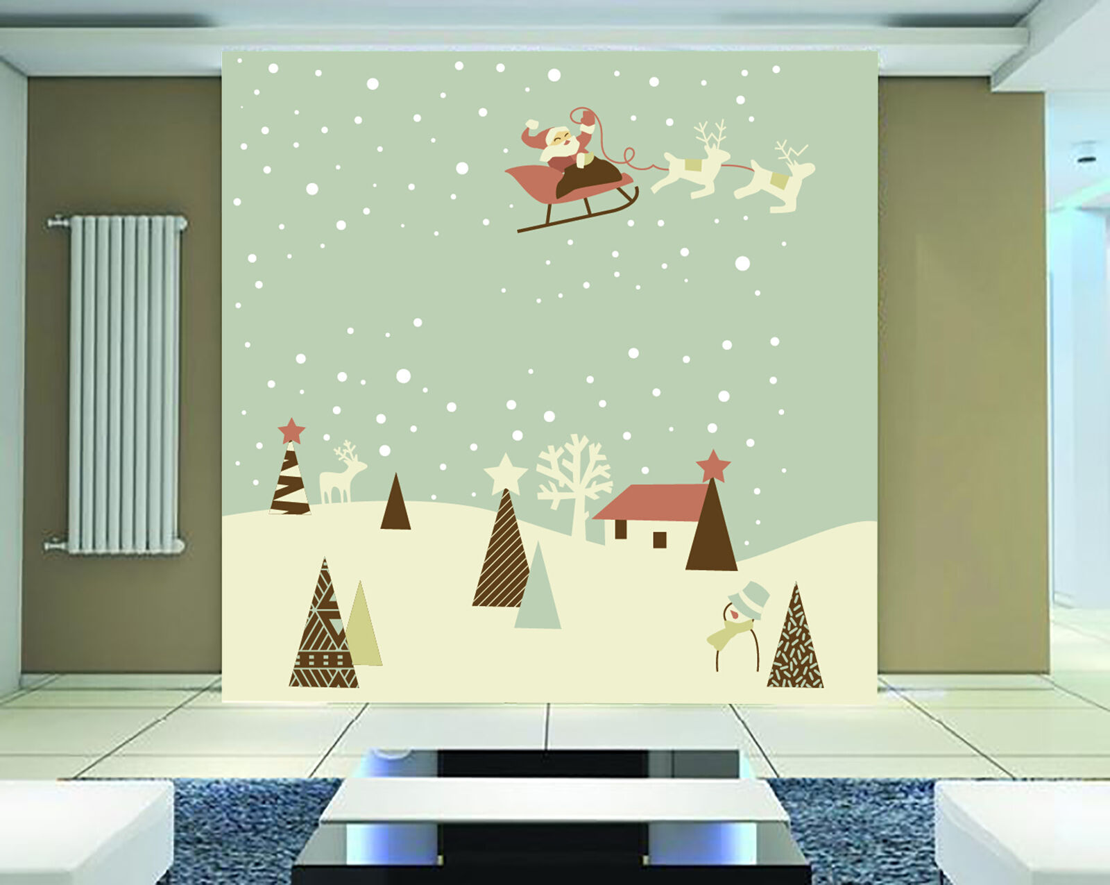 3D Carriage Snow 825 Wallpaper Mural Paper Wall Print Wallpaper Murals UK