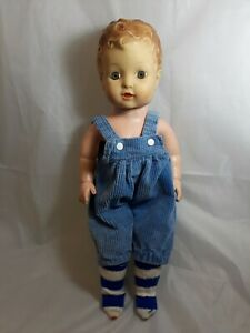 Vintage-Curly-Molded-Hair-Baby-Doll-16-034-Tall