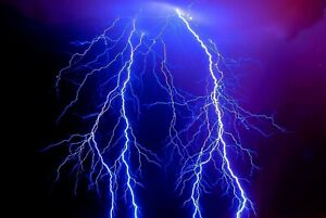 A1-Lightening-Storm-Poster-Art-Print-60-x-90cm-180gsm-Weather-Cool-Gift-8869