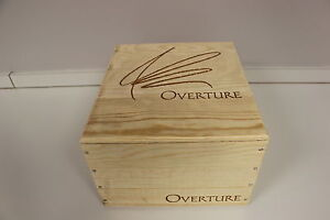 Overture by opus one red wine empty crate wine box held 6 for Empty wine crates