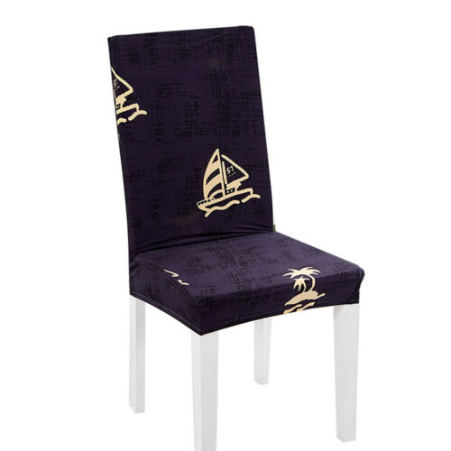 Cute Christmas Elk Chair Cover Elastic Seat Protector Wedding Party Decoration