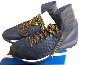 Adidas-Adizero-XT-M-5-Boost-Black-Blue-Yellow-12-5-Running-Hiking-Trail-Shoes