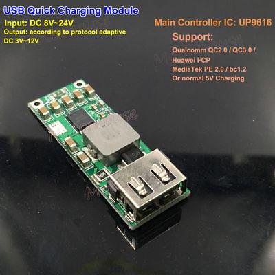 QC3.0 2.0 5V 9V 12V USB Fast Charge Quick Charging Module DIY Phone Charger Car