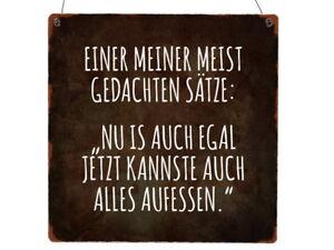 Details Zu Xl Holzschild Einer Meiner Meist Gedachten Sätze Essen Spruch Lustig Geschenk