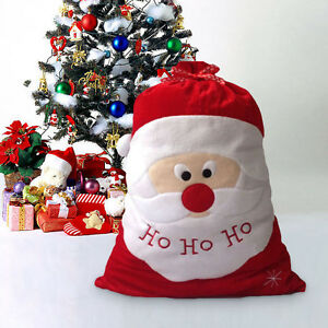 image is loading christmas santa claus large sack bag candy bags - Christmas Decorations Large Santa Claus