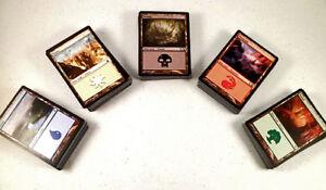 mtg-Magic-the-Gathering-100-basic-land-game-card-lot-mixed-mana