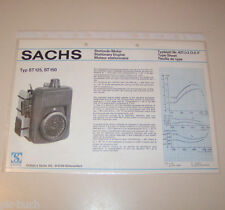 Typenblatt / Technische Daten Sachs Stationär Motor ST 125, ST 150 - Stand 1976!