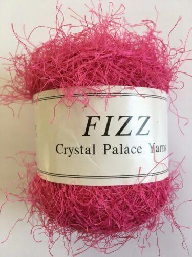 Crystal Palace Fizz Eyelash Yarn #7304 Hot Pink 50 gram 120 yards