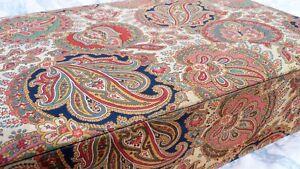 finest selection 0ec7a 9412b Détails sur Ancienne grande boite en tissu motif cachemire à l'indienne