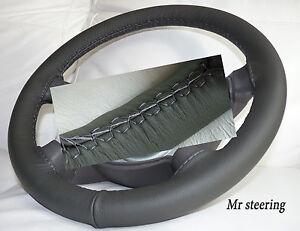 Pour VAUXHALL ASTRA G MK4 en cuir italien noir volant couvrir blanc stitch