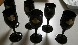 Lot-of-6-24-Black-Crystal-Cordial-Port-Sherryglas-von-MarionWest-Germany-4-3-4-034