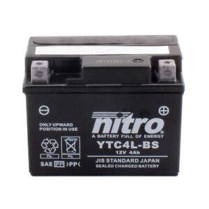 Batterie Piaggio NRG 50 AC DT mc3 Power Bj.05 Nitro YB4L-B GEL geschlossen