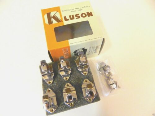 KLUSON FIREBIRD KVDF-6-N 6 INLINE TUNERS W// KEYSTONE BUTTONS NICKEL GIBSON