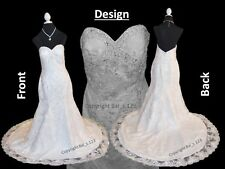 Bridal Wedding Dress - Ivory Strapless Mermaid Dress with Sweetheart Neckline