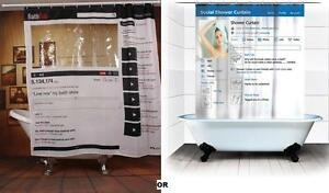 Image Is Loading Facebook Youtube Bathroom Shower Curtain Bath Polyester 180X180cm