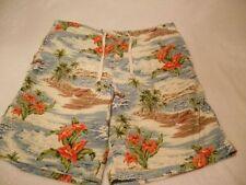 Ralph Lauren Classic Stripe Series White Beach Shorts