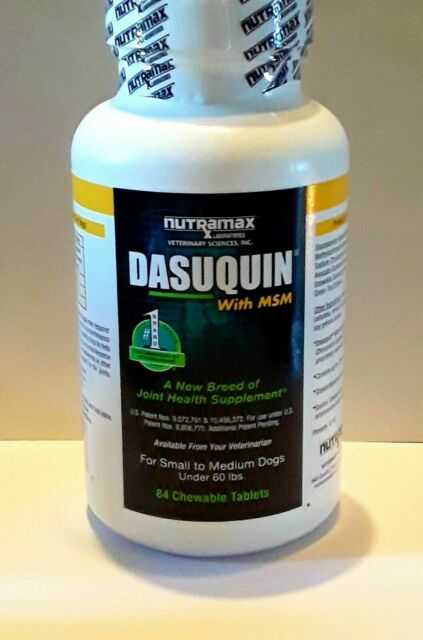 Dasuquin w/ MSM Joint Health Supplement for Small - Medium Dogs 84 Tablets *NEW*