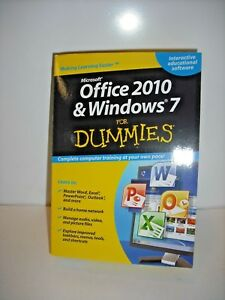 Office 2010 & Windows 7 for Dummies Brand New Interactive Educational Software