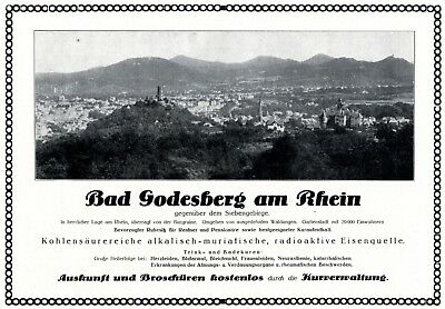 Bad Godesberg Reklame Von 1925 Werbung Kurverwaltung