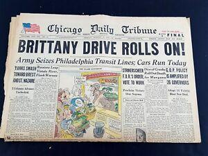 Brittany-Drive-Rolls-On-Phila-Transit-1944-Old-Newspaper-Chicago-Tribune-Aug-4