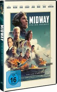 Midway-per la libertà (2019) [DVD/Nuovo/Scatola Originale] Roland Emmerich