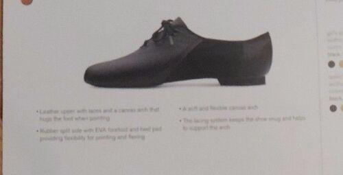 New Bloch SO443L Ladies BLACK Economy  Leather Canvas Split Sole Jazz Shoes