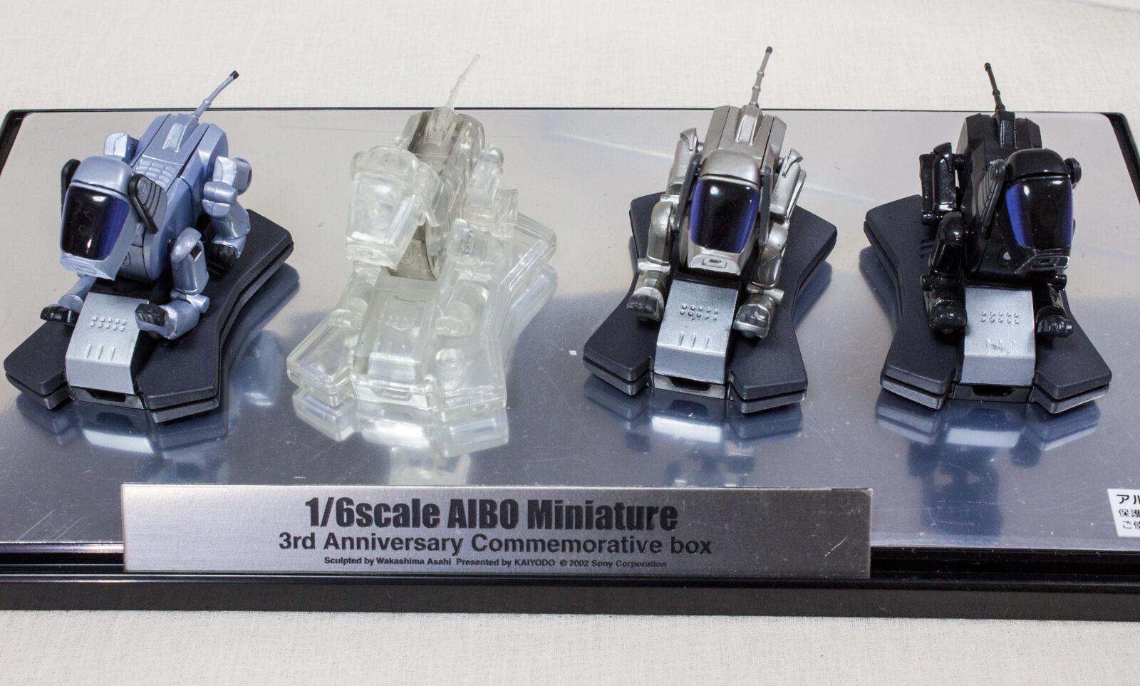 1 6 escala Aibo Miniatura Figura 3rd annniversaru Conmemorativa Caja Kaiyodo Japón
