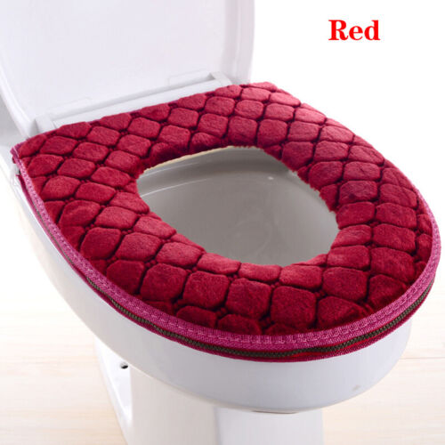 Bathroom Toilet Seat Closestool Washable Soft Warmer Mat Cover Pad Cushion