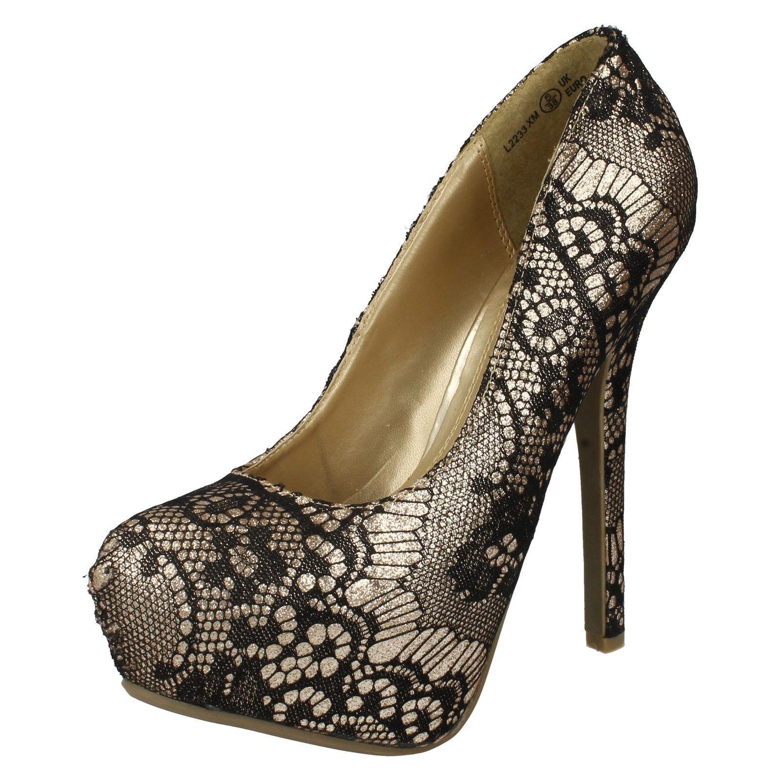 Moda jest prosta i niedroga Mujer Anne Michelle l2r233 Plataforma Tacón Alto Encaje Purpurina Zapatos de