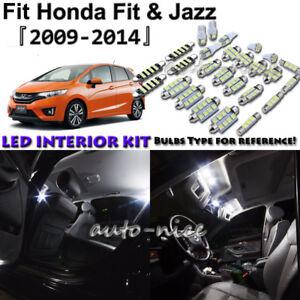 8x White Led Interior Lights Package Kit For 2009 2013 2014 Honda