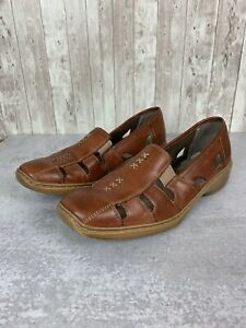 Women's Rieker 'Doris 85' Brown Leather