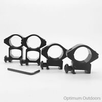 """High or Low Profile Rifle Scope Mounts fit 20mm Rail 25mm 1"""" Ring Quick Detach"""