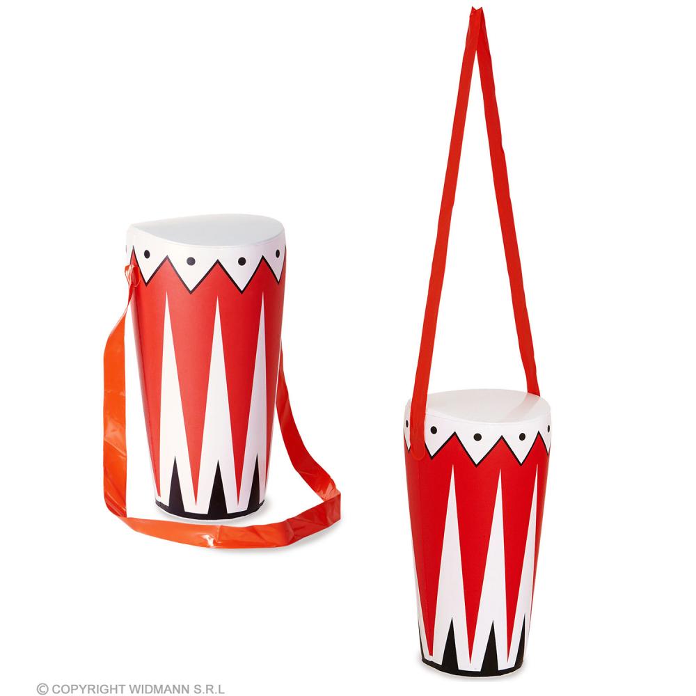 Inflatable Blow Up Long 36cm Hawaiian Hula Luau Tiki Party Drum