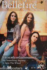 "BELLEFIRE ""SPIN THE WHEEL"" THAILAND PROMO POSTER v.2- Beautiful Irish Girl Group"